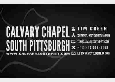Business Card - Front - Calvary Chapel South Pittsburgh